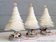 Papierweihnachtsbäume, ausführliche bebilderte Anleitung- auch mit Kindern zu basteln