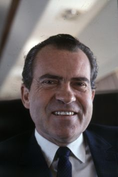 #37 - Richard Milhous Nixon (1913 - 1994). In office: 1969 - 1974, Republican. Nixon was the first president to visit all 50 states and China. He rose from humble beginnings to the presidency, serving as VP to Eisenhower before being elected to the top office himself. He is the only president to resign; he was facing impeachment from the Watergate scandal.