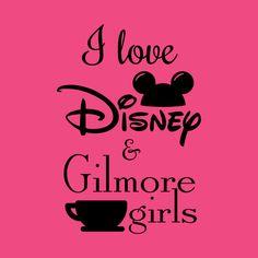I love Disney and Gilmore Girls - shirt Gilmore Girls, Walt Disney World, Disneyland, Love, T Shirt, Shopping, Amor, Supreme T Shirt, Tee Shirt