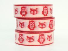 Cute owl Masking Tape - Washi Tape  Pinned by www.myowlbarn.com