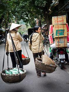 leaving the market, Hanoi, Vietnam.  Photo: Creative Vacuum, via Flickr