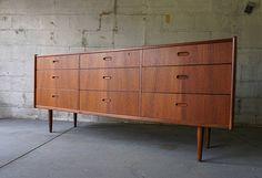 Danish Style, Danish Modern, Mid-century Modern, Bedroom Dressers, Dining Decor, Modern Bedroom, Credenza, Wood Grain, Storage Spaces