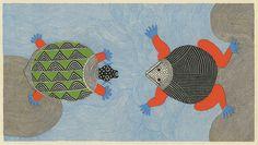 Waterlife tortoise + frog (Tara books) by peacay, via Flickr