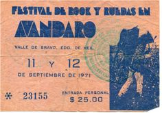 Considerado como el Woodstock mexicano, el Festival de Avándaro se celebro el 11 y 12 de septiembre de 1971