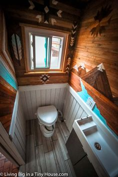 This home is the cross between a tiny house on wheels and a kid's dream fort! The entire open area between the two sleeping lofts of this tiny home is filled with a giant hammock providing an amazing place to relax while adding a tonne of usable space in the home! This 24 x 8.5 ft (7.3 x 2.5m) tiny house is the brain-child of Whit and Cody, two dynamic friends who have called this project 'Smore Life'. The smore … →
