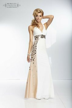 A simple design with an indulgent finish of mirror beading, by Mori Lee - fabulous!