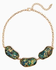 charming charlie | Abalone Stone Necklace | UPC: 3000754281 #charmingcharlie