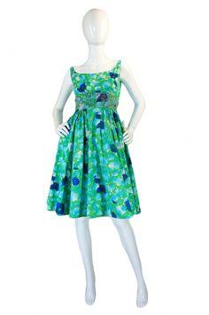 1960s Beaded Malcolm Starr Sun Dress