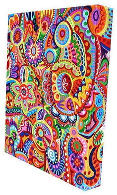 use a great fabric over a canvas. probs not this bright and busy though!