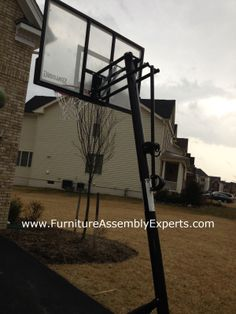 spalding nba 54 angled pole backboard system instructions