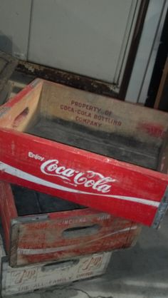 Red Coke Crate Soda Rustic Antique Country