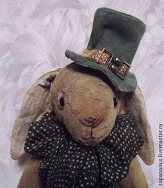 Кролик тедди, Патрик, коллекционная игрушка ручной работы - кролик тедди