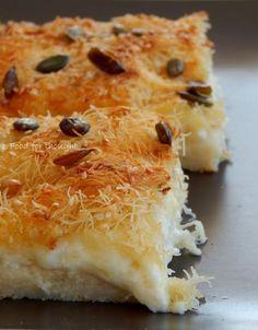 Τυρόπιτα με φύλλο καταϊφι και 4 τυριά