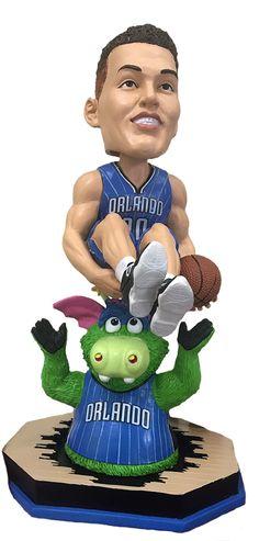 57d9e4af1c4 Aaron Gordon (Orlando Magic) Stuff the Magic Dragon Mascot Bust Base… Nba  Slam