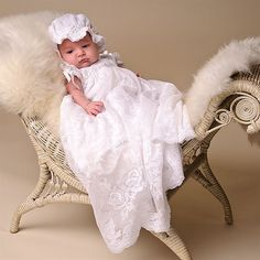 Louisa White Christening Gown ★ Baby Beau & Belle