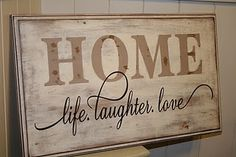 Easy DIY Home Sign ---> Going to try this!