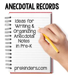 Ideas for taking Anecdotal Records (or Observational Notes) in Pre-K and Preschool. Find more assessment ideas. Organizing Making supplies easily accessible is important. I have a chair pocket at both small group tables and baskets Preschool Assessment, Formative Assessment, Preschool Curriculum, Preschool Classroom, Preschool Ideas, Classroom Behavior, Preschool Learning, Classroom Ideas, Kindergarten