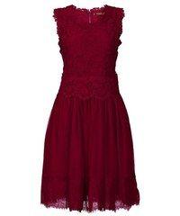 Jolie Moi Crochet Lace Overlay Mesh Prom Dress Red - House of Fraser Red A Line Dress, A Line Prom Dresses, Short Lace Dress, Red Midi Dress, Short Bridesmaid Dresses, Mesh Dress, Dress Lace, Purple Dress, Bridesmaids