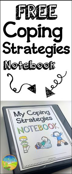 FREE coping strategies notebook resources for anger, anxiety, depression, and more.