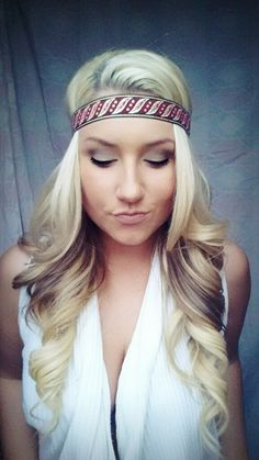 Aztec boho tribal Queen   blonde hair curls eye shadow makeup smokey eye