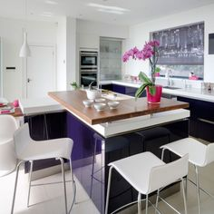 Purple Gloss Kitchen Design