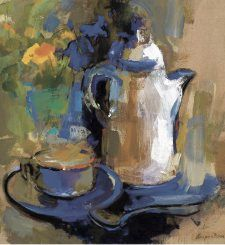 Con Claridad: Un Ramo Favorito Gota, Painting, Mosaics, Paintings, Floral Bouquets, Shells, Wine Cellars, Artists, Window
