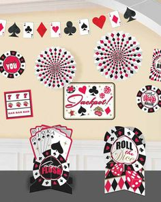 I like the idea of stringing an extra deck of cards all the way around room.