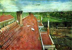 Vincent van Gogh: View from the Window of Vincent's Studio in Winter, 1883.