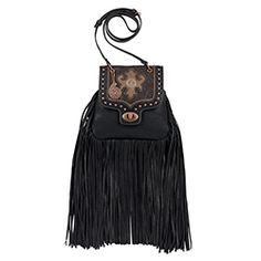SOOooo much Fringe! Bandana by American West Winslow Women's Black and Cocoa Crossbody Flap Bag American West Handbags, Large Crossbody Purse, Crazy Train Clothing, Concealed Carry Bags, Women's Bandanas, Fringe Handbags, Western Purses, Bandana Print, Cross Body Handbags