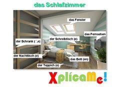 Vocabulario de la habitación :) Consigue más imágenes con vocabulario en www.stufe-5.de o en www.facebook.com/xplicame