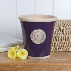 Kew Long Tom Pot in Aubergine - Royal Botanic Gardens Plant Pot - Medium Plant Pots, Potted Plants, Kew Gardens, Botanical Gardens, Embossed Seal, Terracotta Pots, Garden Pots, Earthy, Planters