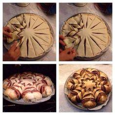 Пирог с орехово-шоколадной пастой