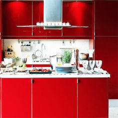 Trend Spotting Red Interiors in Design, Home Decor, Art, Accessories, Style and Fashion. Featured: Red Color Palettes in the home