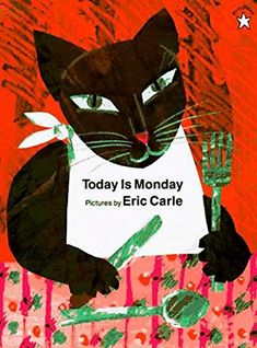 Today Is Monday by Eric Carle. Another book that my class loves. We sing the song version for this book too and also perform it on their graduation Eric Carle, Dear Zoo, Today Is Monday, Monday Pictures, Library Themes, Pete The Cats, Earth Book, Flannel Friday, Collage Techniques