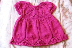 Knit this baby dress again-free pattern