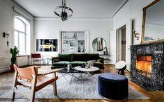 Stylish Scandinavian apartment in Stockholm.