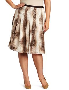 Jones New York Women's Plus-Size Printed Snake Pleated Skirt * This is an Amazon Affiliate link. Click image for more details.