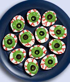 Eyeball Deviled Eggs & Other Halloween Party Food Ideas