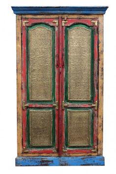 meble indyjskie - kolorowa indyjska szafka