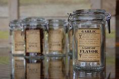 Super cute spice jar labels