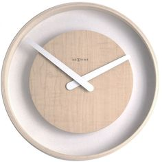 Wood Loop Wall Clock design by Nextime (5.895 RUB) ❤ liked on Polyvore featuring home, home decor, clocks, nextime, wooden home decor, nextime clocks, wood wall clock and wooden clock