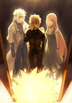 Naruto's Mirror of Erised - Minato, Naruto and Kushina