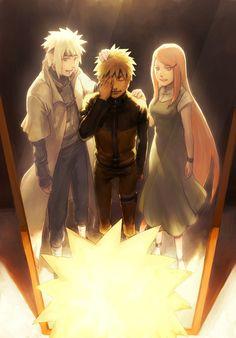 Naruto's Mirror of Erised - Minato, Naruto and Kushina