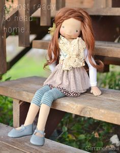 """Halyn"" 21"" tall natural art doll by Glimmer Row"