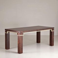 A Walnut Dining Table Designed by Pierre Cardin 1980s