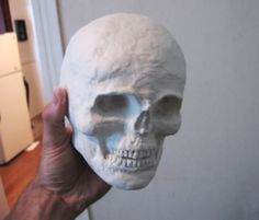 Well, since I had some requests for the making of this little darling. Here is the process. She is life size..about the size of a 6-7 year old.1) I used DAS an air hardening clay to sculpt the head. I think I may have used a styrofoam ball or maybe just a ball of aluminum foil for the inside structure. The head had to be the size of a childs head so I payed attention to proportions. Also, the teeth are very small, like baby teeth.2) After drying, the clay head was attached using a g