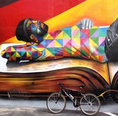 by Eduardo Kobra (LP) jd Graffiti Murals, Street Art Graffiti, Kobra Street Art, Street Art Love, Outdoor Art, Chalk Art, Land Art, Street Artists, Public Art