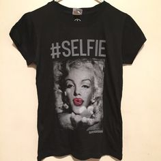 """Marilyn Monroe Selfie T-Shirt Marilyn Monroe Selfie T-Shirt Size- X-Large Measurements: Chest-18"""""""" / Length- 23"""" """"New Without Tags"""" (Medium & Large also Available) Palladium Tops Tees - Short Sleeve"""