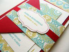 Wedding Invitation Indian Wedding Invitation by JutingDesignStudio