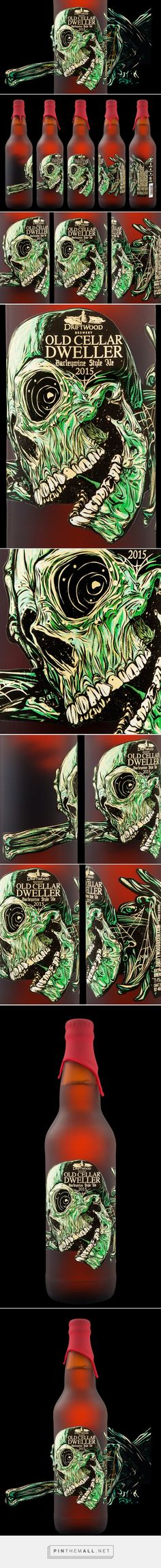 Old Cellar Dweller Barleywine label designed by Hired Guns Creative​ - http://www.packagingoftheworld.com/2015/12/old-cellar-dweller-barleywine.html